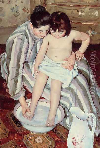 Title Unknown Oil Painting - Mary Cassatt