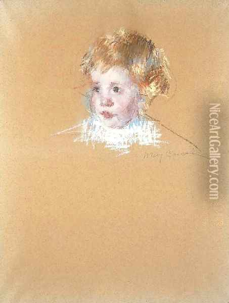 Study for the portrait of a child Oil Painting - Mary Cassatt