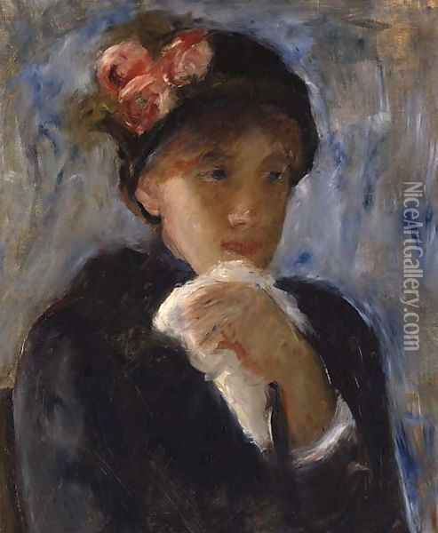 La femme au mouchoir Oil Painting - Mary Cassatt
