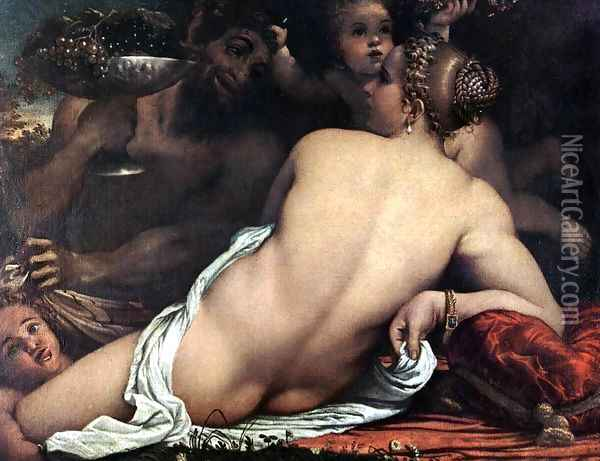 Venus with a Satyr and Cupids c. 1588 Oil Painting - Annibale Carracci