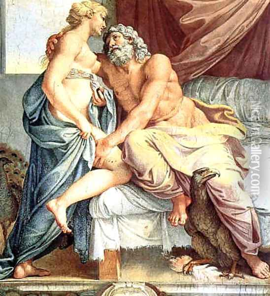 Jupiter and Juno Oil Painting - Annibale Carracci
