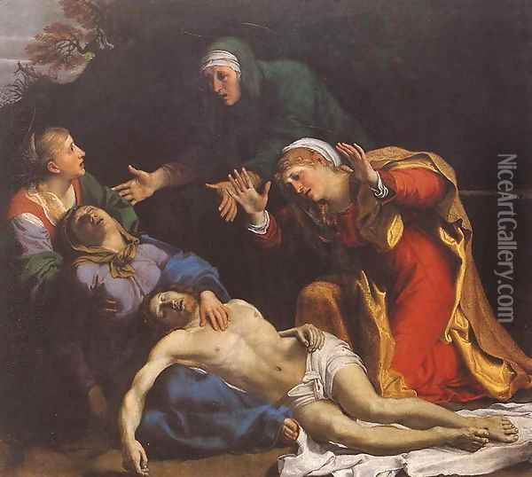 Lamentation of Christ 1606 Oil Painting - Annibale Carracci