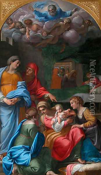 The Birth of the Virgin Oil Painting - Annibale Carracci