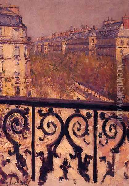 A Balcony In Paris Oil Painting - Gustave Caillebotte