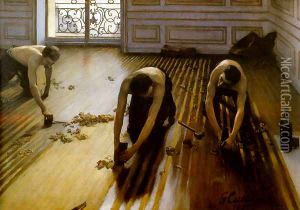 The Floor Scrapers 1875 Oil Painting - Gustave Caillebotte