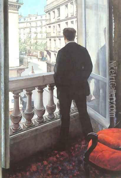 A Young Man At His Window Oil Painting - Gustave Caillebotte