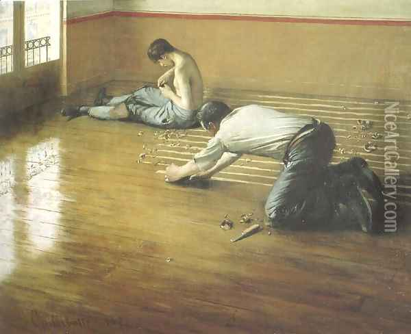 The Floor Scrapers Oil Painting - Gustave Caillebotte