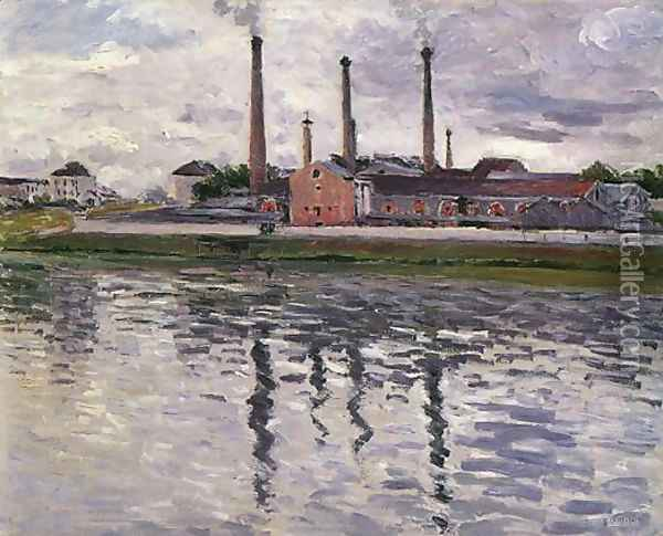 Factories At Argenteuil Oil Painting - Gustave Caillebotte