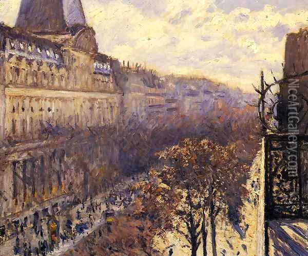 Boulevard Des Italiens Oil Painting - Gustave Caillebotte