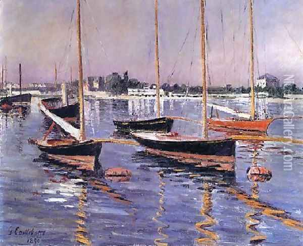 Boats On The Seine At Argenteuil Oil Painting - Gustave Caillebotte