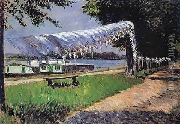 Laundry Drying Oil Painting - Gustave Caillebotte