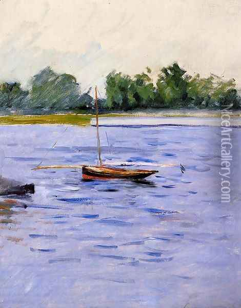 Boat At Anchor On The Seine Oil Painting - Gustave Caillebotte
