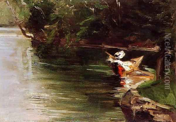 Banks Of The Yerres Oil Painting - Gustave Caillebotte