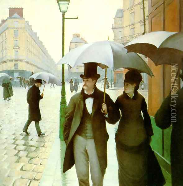 Paris Street Oil Painting - Gustave Caillebotte