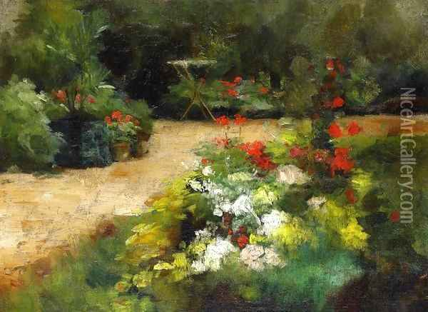Garden Oil Painting - Gustave Caillebotte