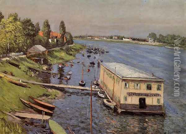 Boathouse In Argenteuil Oil Painting - Gustave Caillebotte