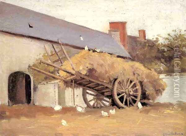Loaded Haycart Oil Painting - Gustave Caillebotte