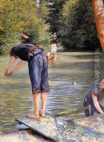 Bathers Oil Painting - Gustave Caillebotte