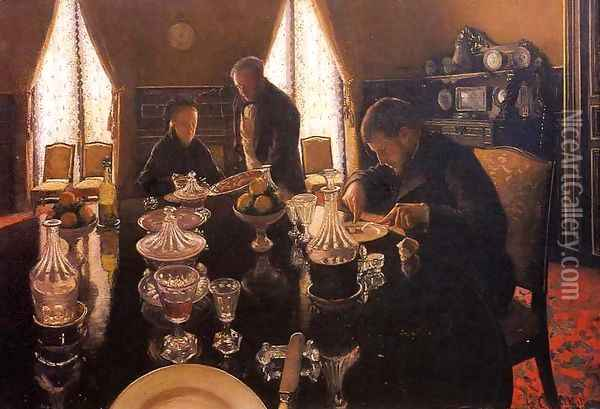 Luncheon Oil Painting - Gustave Caillebotte