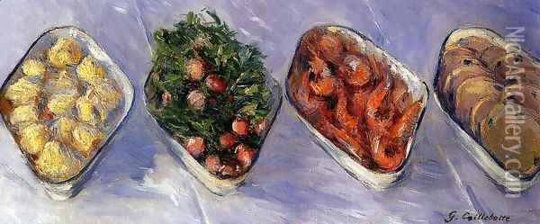 Hors D Oeuvre Oil Painting - Gustave Caillebotte