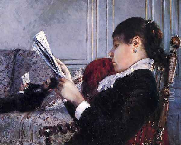 Interior Oil Painting - Gustave Caillebotte