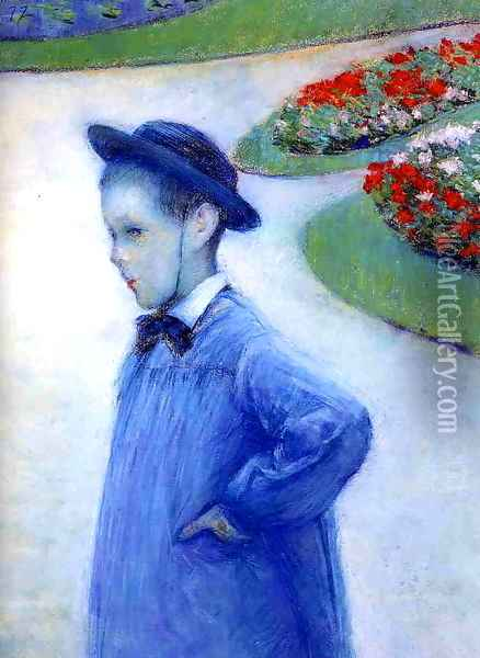 Camille Daurelle In The Park At Yerres Oil Painting - Gustave Caillebotte