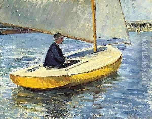The Yellow Boat Oil Painting - Gustave Caillebotte