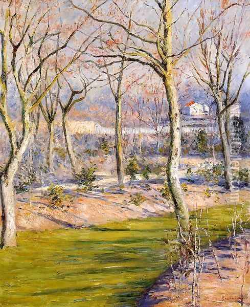 The Garden At Petit Gennevilliers In Winter Oil Painting - Gustave Caillebotte