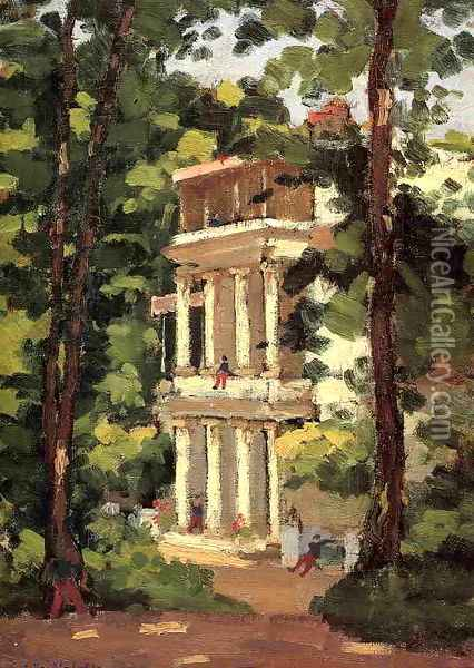 Yerres Colonnade Of The Casin Oil Painting - Gustave Caillebotte