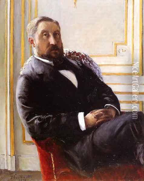 Portrait Of Jules Richemont Oil Painting - Gustave Caillebotte