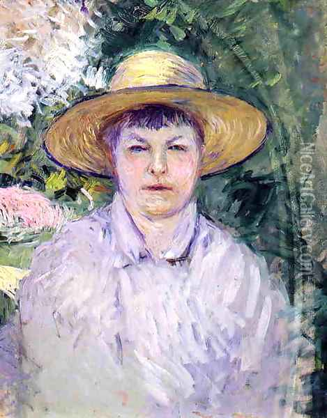 Portrait Of Madame Renoir Oil Painting - Gustave Caillebotte