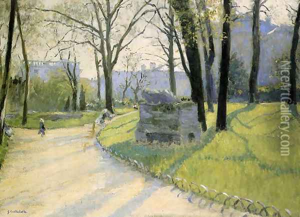 The Parc Monceau Oil Painting - Gustave Caillebotte