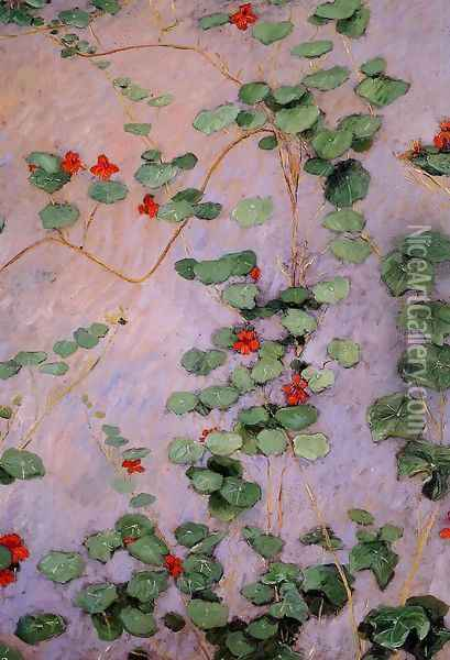 Nasturtiums Oil Painting - Gustave Caillebotte