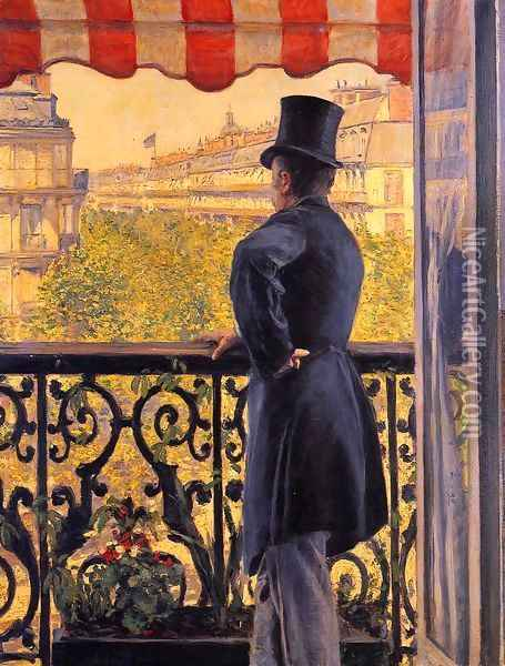 The Man On The Balcony Oil Painting - Gustave Caillebotte