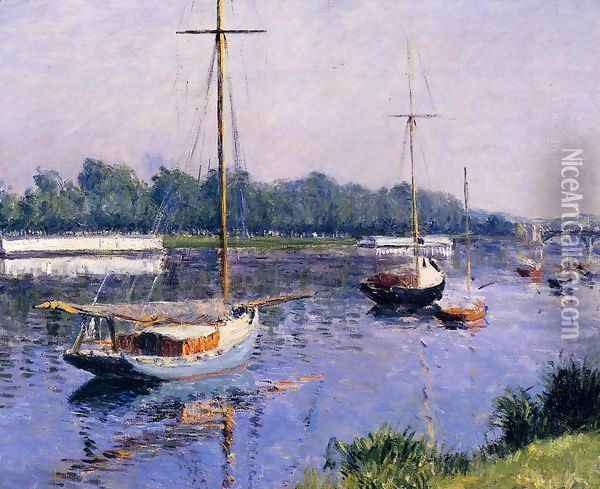The Basin At Argenteuil Oil Painting - Gustave Caillebotte
