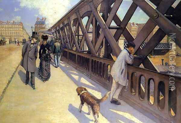 The Pont Du Europe Oil Painting - Gustave Caillebotte