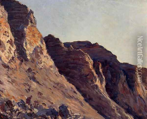 Cliff At Villers Sur Mer Oil Painting - Gustave Caillebotte