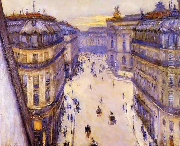 Rue Halevy Seen From The Sixth Floor Oil Painting - Gustave Caillebotte