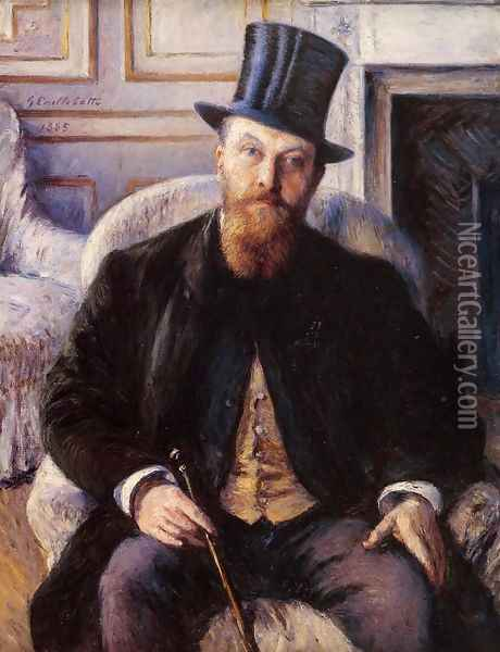 Portrait Of Jules Dubois Oil Painting - Gustave Caillebotte