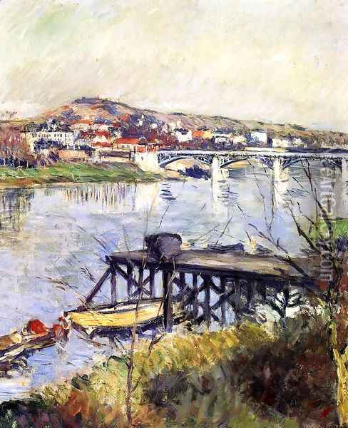 The Argenteuil Bridge Oil Painting - Gustave Caillebotte