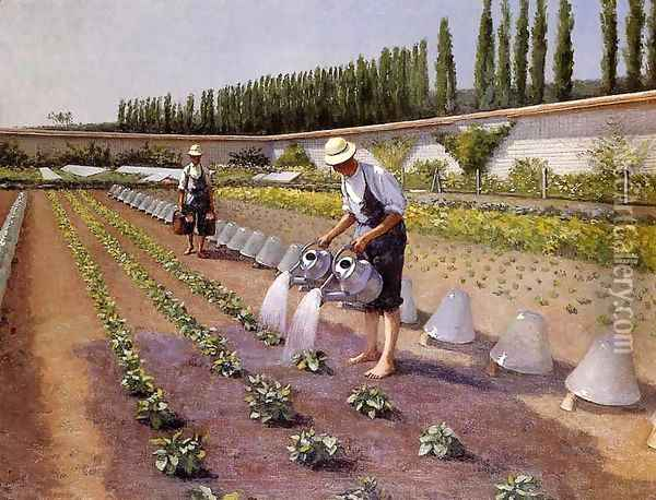 The Gardeners Oil Painting - Gustave Caillebotte