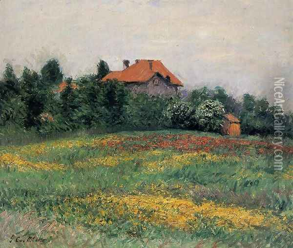 Norman Landscape Oil Painting - Gustave Caillebotte