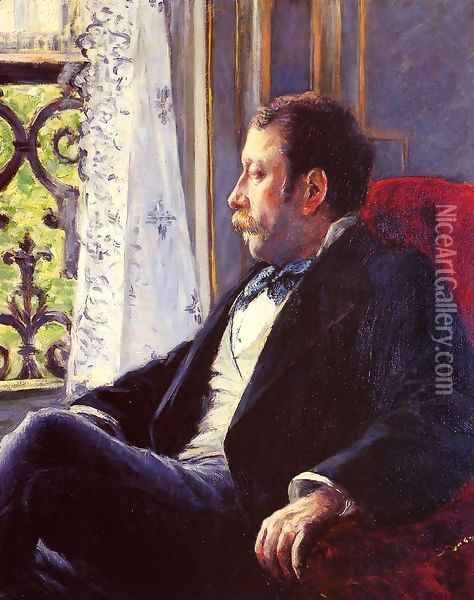Portrait Of A Man2 Oil Painting - Gustave Caillebotte