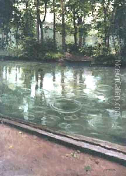 L Yerres Oil Painting - Gustave Caillebotte