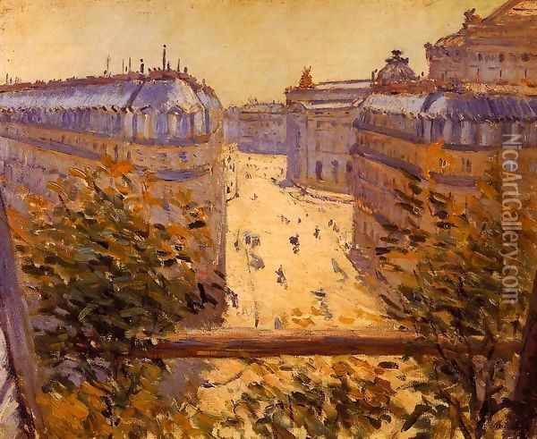 Rue Halevy Balcony View Oil Painting - Gustave Caillebotte