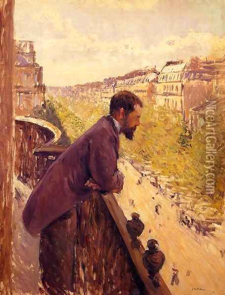 The Man On The Balcony2 Oil Painting - Gustave Caillebotte
