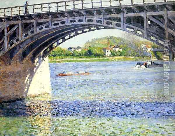 The Argenteuil Bridge And The Seine Oil Painting - Gustave Caillebotte