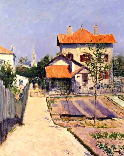 The Artists House At Petit Gennevilliers Oil Painting - Gustave Caillebotte