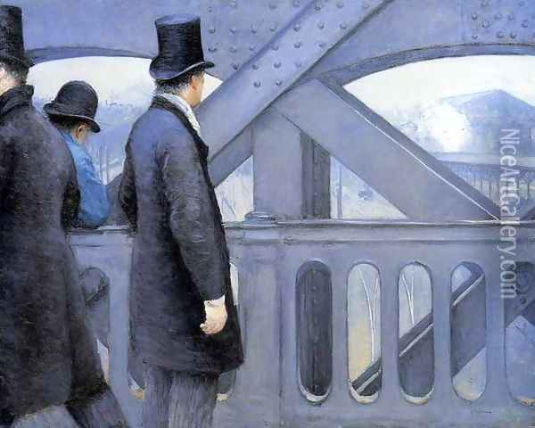 The Pont De Europe Oil Painting - Gustave Caillebotte