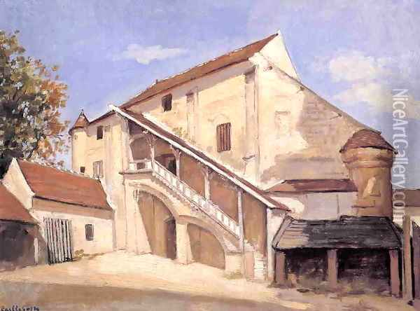 Meaux Effect Of Sunlight On The Old Chapterhouse Oil Painting - Gustave Caillebotte